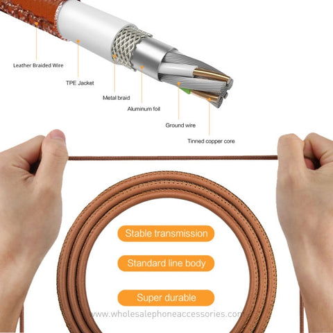 China-Supplier-Leather-Cable-Premium-Leather-Braided-Aluminum-Alloy-Fast-Charging-Phone-USB-Cable-for-iPhone-X-8-7-Cheap-Price-Wholesale-USA-Distributor-Factory-Bulk-Lots--Manufacturer