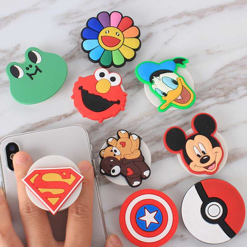 3d Cartoon Pop up Phone Holders Expandable Grip