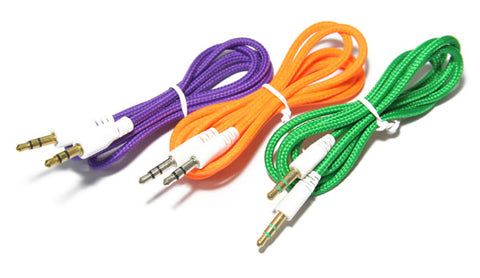 Image of auxiliary aux 3.5mm connector cable for music