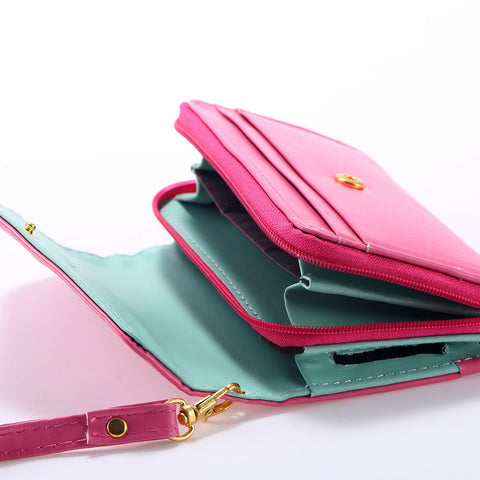Image of bulk lots china manufacturer cheap price wholesale leather wallet phone case purse cellphone women much supplier