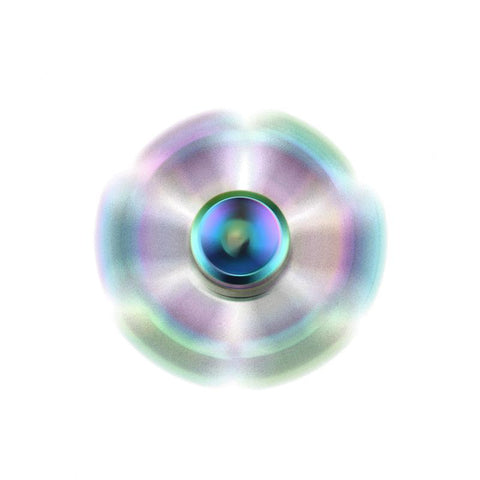 Image of Rainbow Fidget Spinner Metal Six Arm Hand Spinner Bearing Fidget Toys Tri-Spinner Finger Spinner Anti-Autism Rotating Toys Factory China Bulk Shipping