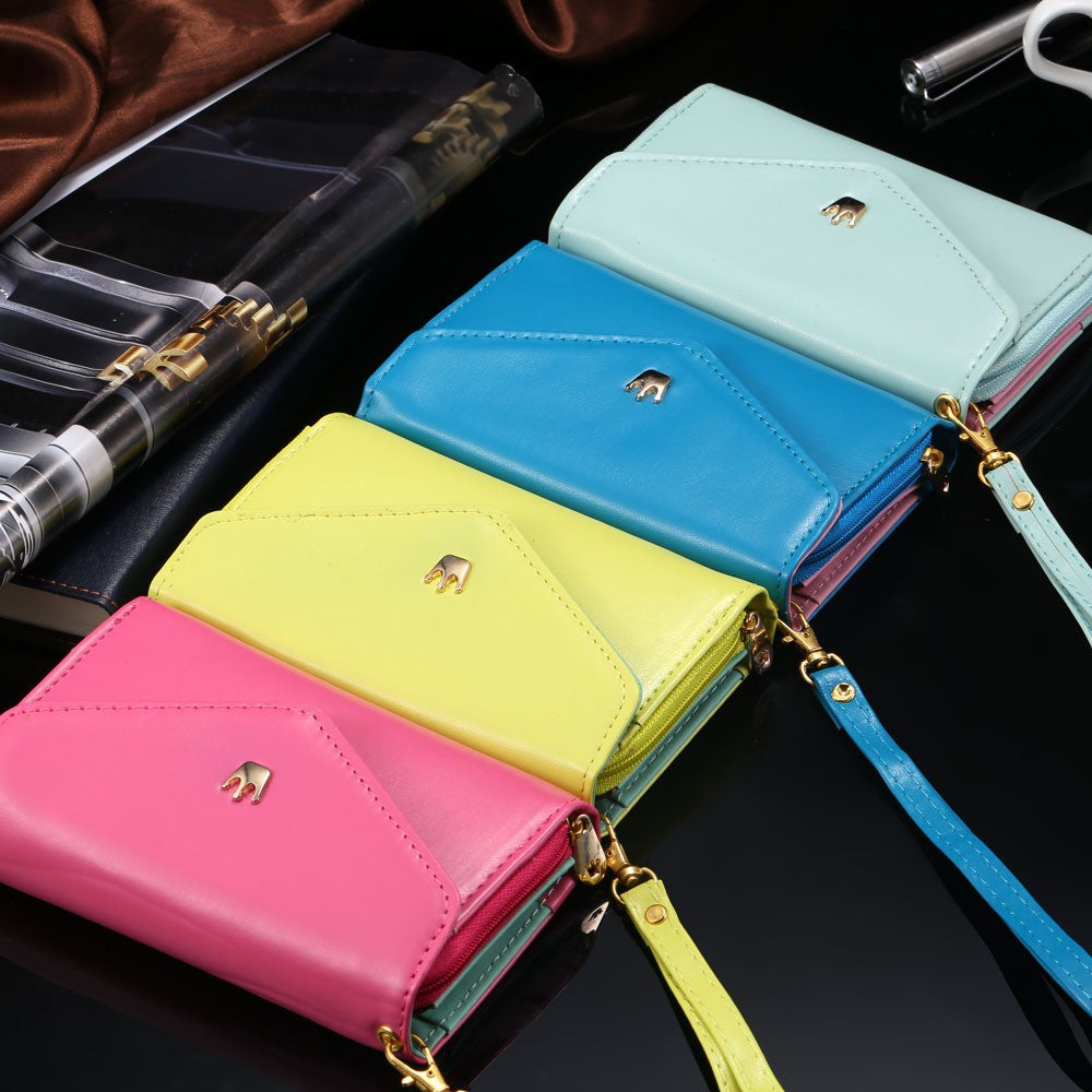 cheap wholesale iPhone samsung cell phone accessories leather wallet case cover purse