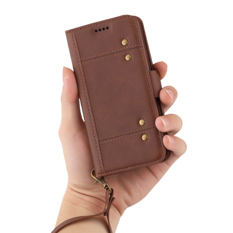 Image of   USA Distributor Factory China Supplier Cheap Price Wholesale LC.IMEEKE Leather  Case with Back Case Seperately for iPhone X 8/8PLus 7/7PLus 6/6s 6Plus/6sPlus