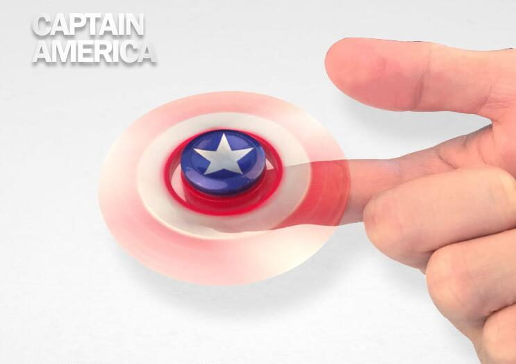 Captain America Avenger Zinc alloy the avengers Super Hero Captain America Fidget Hand Spinners Spiderman Superman Iron Flash hand spinner Bulk Shipping