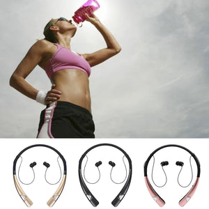 HV-980 Bluetooth Headphones Wireless Neckband Headset HandsFree Stereo Earphones Noise Canceling with Mic for Android & Apple