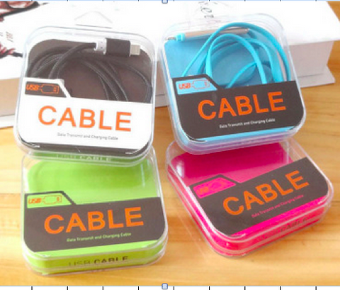 Image of Retail Glass acrylic packaging for bulk usb cable phone accessories