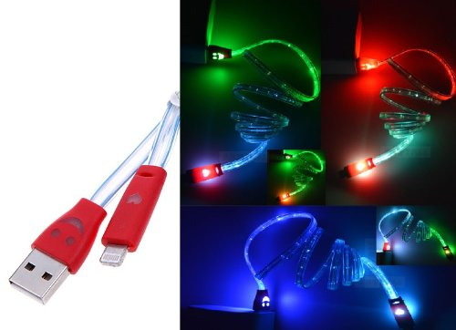 LED flat noodle color changing usb cable for micro usb samsung android