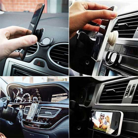 Car wall mount for pop phone grip holders