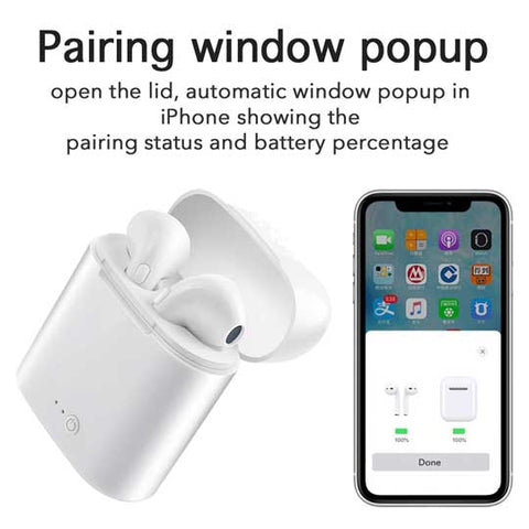 Image of [High Quality] i7s TWS Wireless Bluetooth 5.0 +EDR Earbuds Headsets with charging case