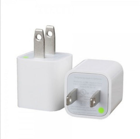 Image of oem white iPhone wall charger bulk lots cheap china prices supplier