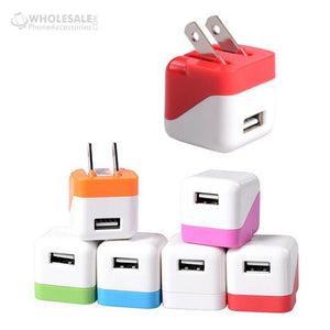 Colorful Travel Wall Charger Adapter 5V 1A USA Plug For iPhone Samsung Android