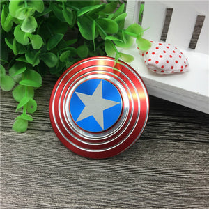 Marvels Avengers Captain America IronMan Arc Reactor Metal Fidget Spinner