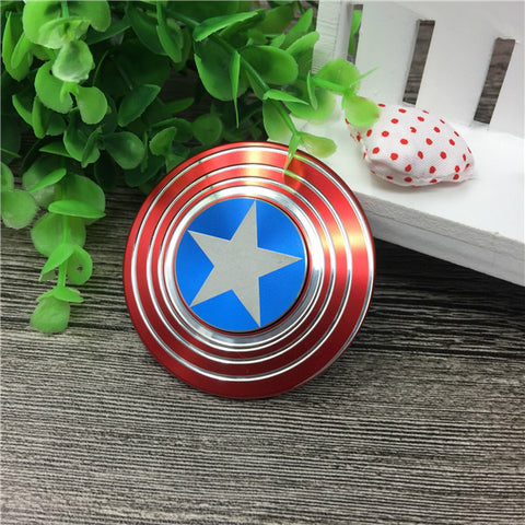 Image of Cheap China Captain America Metal Fidget Spinner Shipping