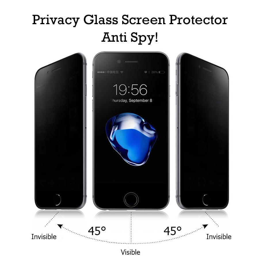 Privacy Anti Spy 0.3mm Tempered Glass Screen Protector for all iPhone X(TEN) 88Plus 77Plus 66s 6Plus 55S