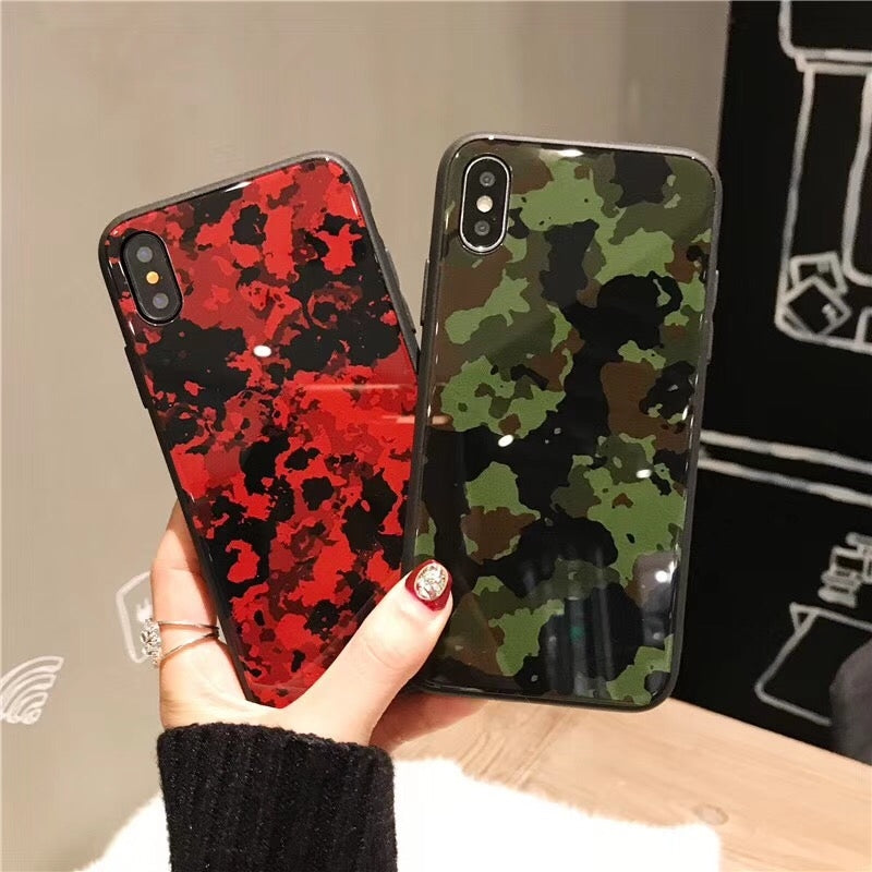 China Supplier comouflage glass case for iPhone X Cheap Price Wholesale USA Distributor Factory Bulk Lots Manufacturer
