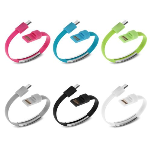 wholesale colorful usb bracelet charging cable for iPhone samsung micro