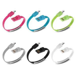 USB Bracelet wristband charger cable for iphone samsung android micro usb