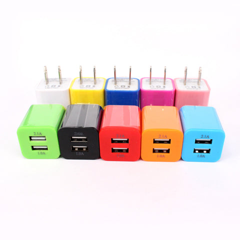 Image of Wholesale dual 2 usb port wall charger travel home adapter plug