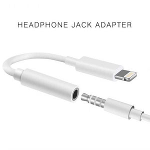 iPhone lightning to 3.5mm aux audio jack adapter for listening music iOS 11
