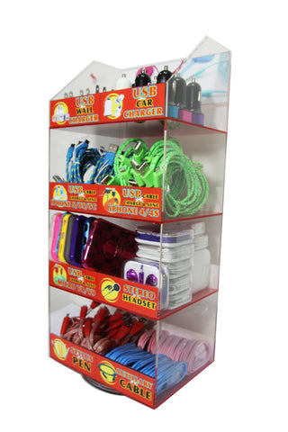 Wholesale Cellphone Accessory Retail Counter top Display Case Supplier