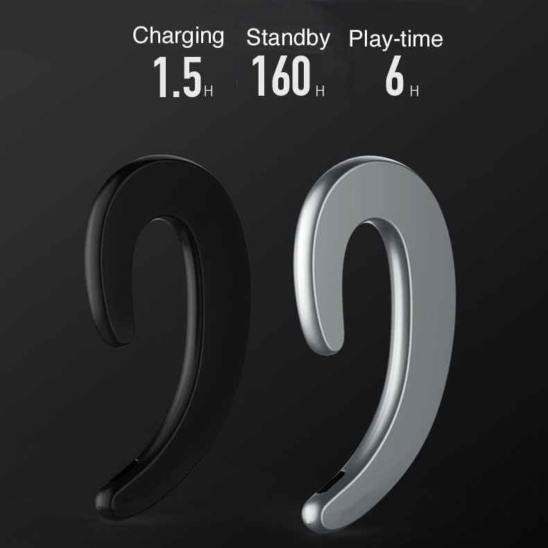 B-18 Wireless Bone Conduction headphones earbuds with Mic