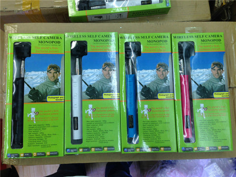 retail packing for z07-6 wireless bluetooth selfie stick supplier wholesale