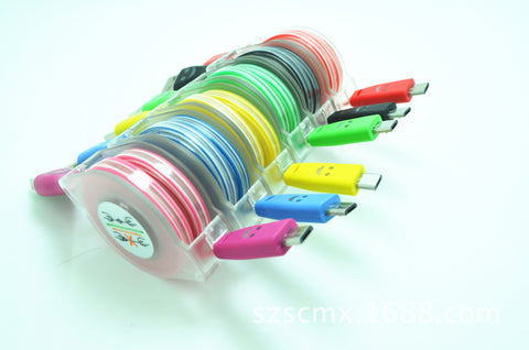 Retractable usb cable for samsung android micro usb