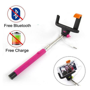 wired extendable selfie stick monopod