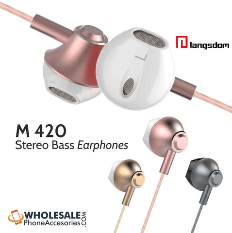 Image of wholesale factory china supplier langsdom earphones m420 cheap price ditributor