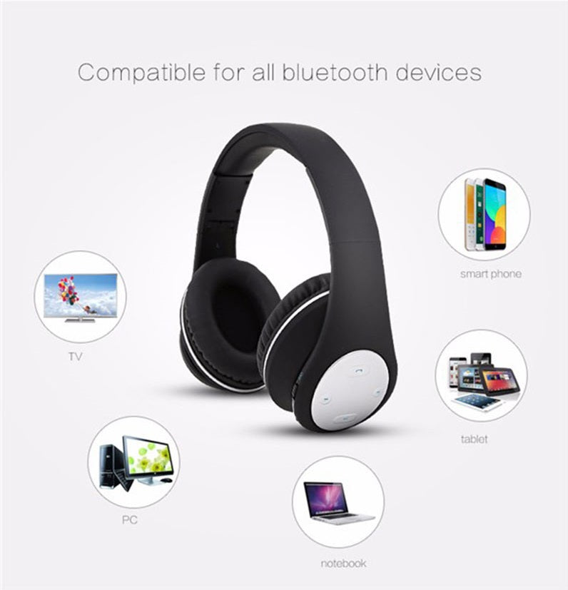 New Model BT-990 Headband Bluetooth Wireless Headphone Stereo Foldable Adjustable Length Voice Prompt