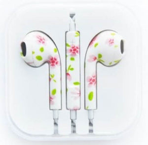 Printed Colorful OEM Earphones with Volume Control & Mic for Iphone Ipod