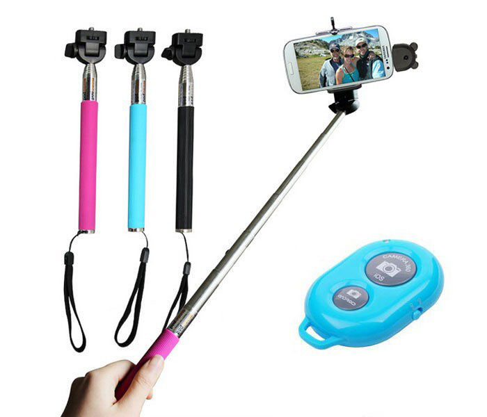 Wholesale bulk lot selfie stick set kit bluetooth shutter