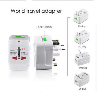 World Universal International Wall Adapter Charger All Countries