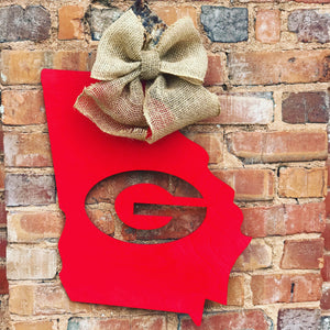 State of GA Wood Door Hanger