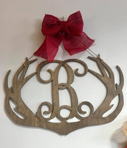 Single Letter Antler Door Hanger