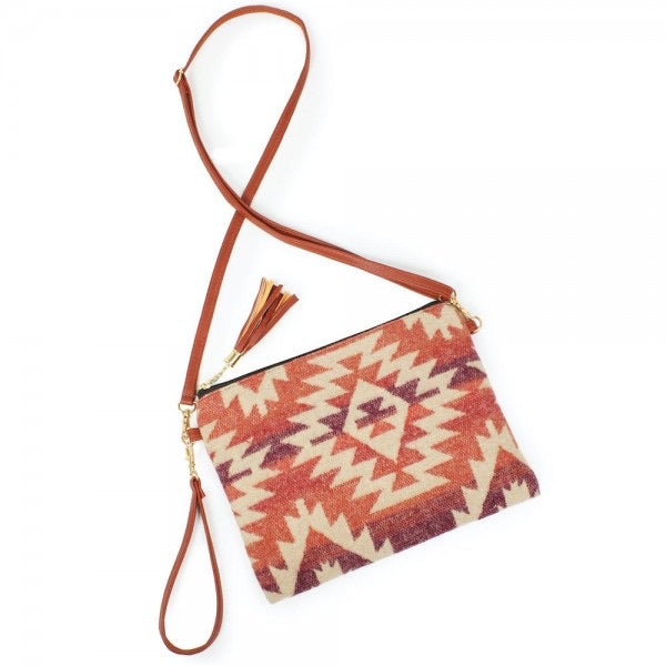 Large Clay Aztec Clutch/Crossbody