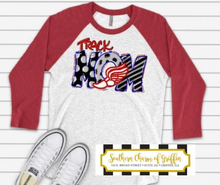 Load image into Gallery viewer, Track Mom Raglan