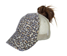 Load image into Gallery viewer, High Pony Leopard Mesh Cap