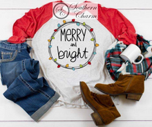 Load image into Gallery viewer, Merry and Bright Raglan