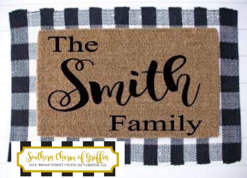 Personalized Family Door Mat
