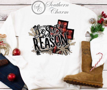 Load image into Gallery viewer, Jesus is the Reason Sweatshirt