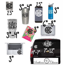 Load image into Gallery viewer, Vinyl Monogram Decal