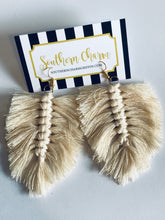 Load image into Gallery viewer, Macrame Feather Earrings