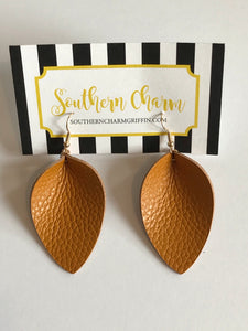 Genuine Leather Teardrop Earrings