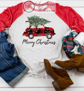 Merry Christmas VW Raglan