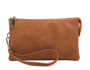Sara 3 Compartment Wristlet Crossbody