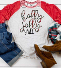 Load image into Gallery viewer, Holly Jolly Raglan