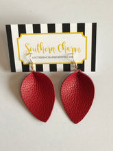 Load image into Gallery viewer, Genuine Leather Teardrop Earrings