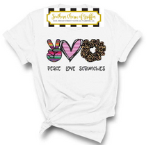 Load image into Gallery viewer, Peace, Love, Scrunchies