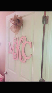 Mixed Font Monogram Door Hanger